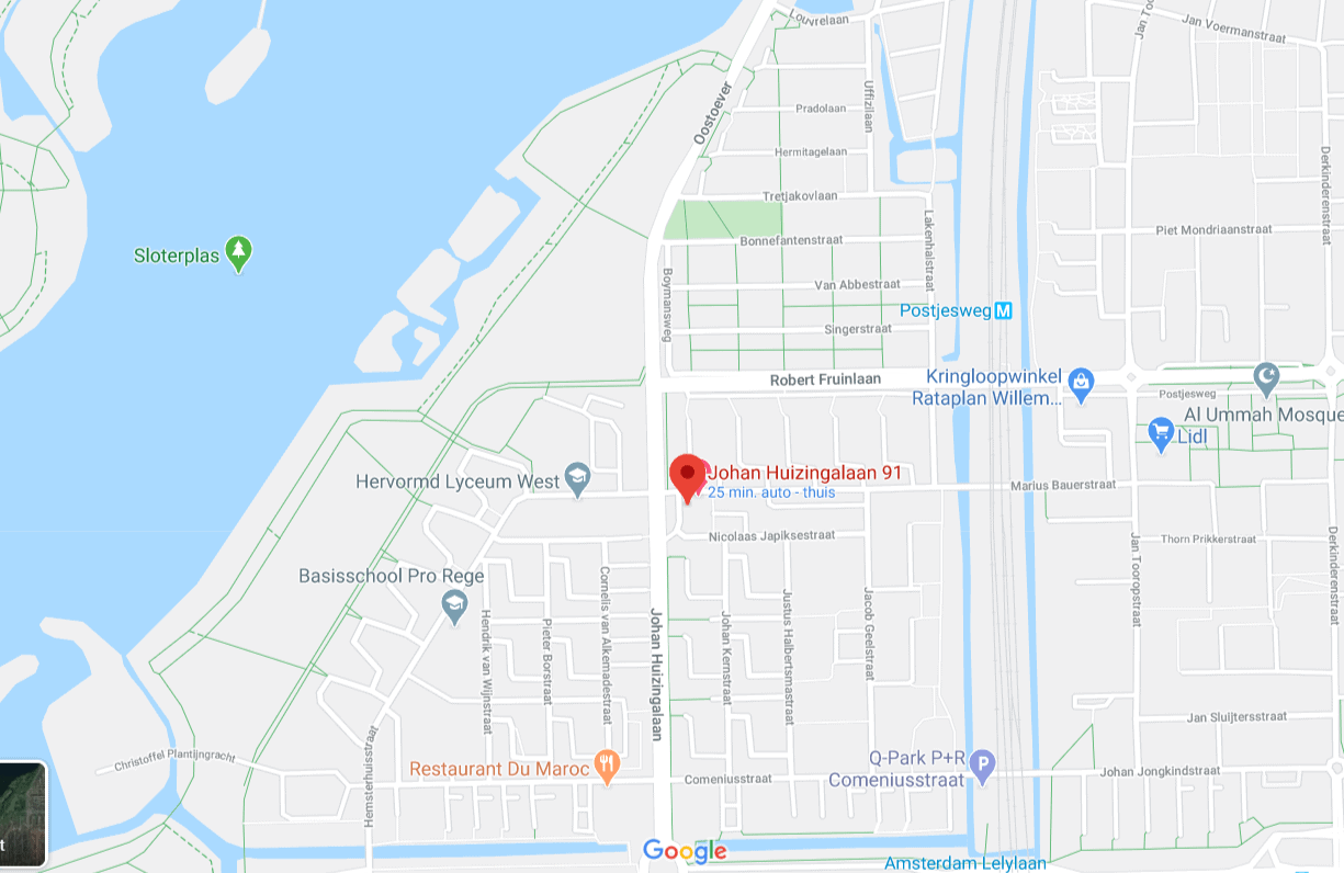 Locatie ajwa dadels ophalen Amsterdam